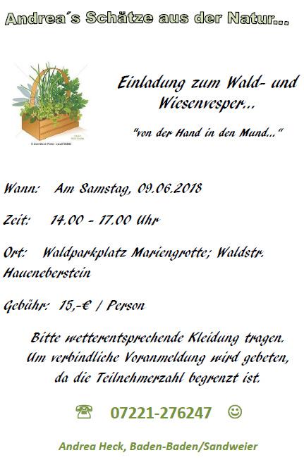 Wald-und-Wiesenvesper-9-06-2018 in Wald und Wiesenvesper von der Hand in den Mund